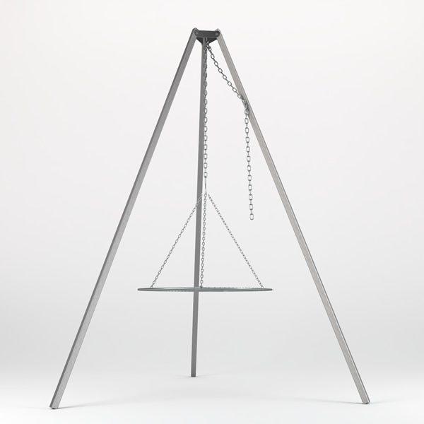 driepoot edelstaal set 63cm
