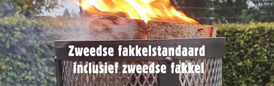 Zweedse fakkelstandaard inclusief zweedse fakkel