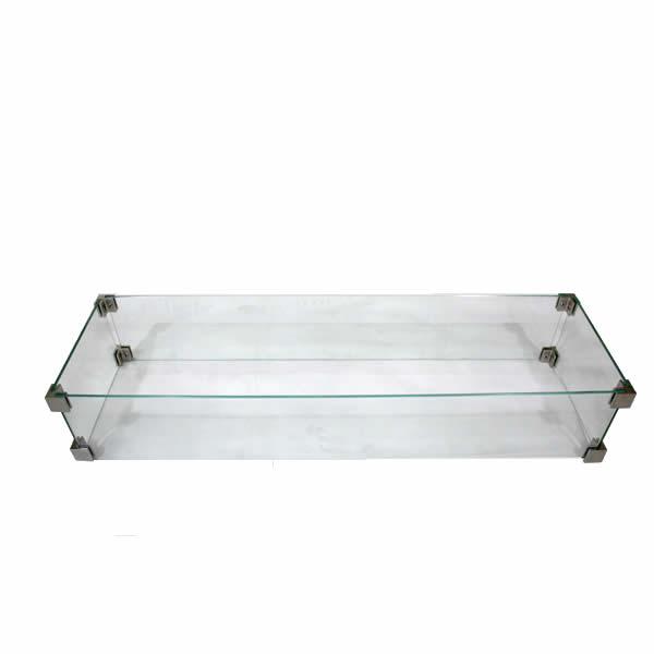 Brandwerende glazen rand - (109 x 33 cm)