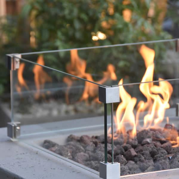 Brandwerende glazen rand - Vierkant (56 cm)