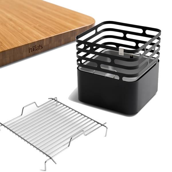 Vuurkorf Cube multifunctional Hofats sfeer6