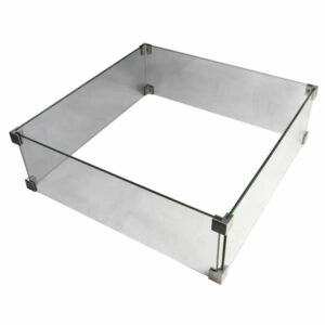 Brandwerende glazen rand - Vierkant (45 cm)
