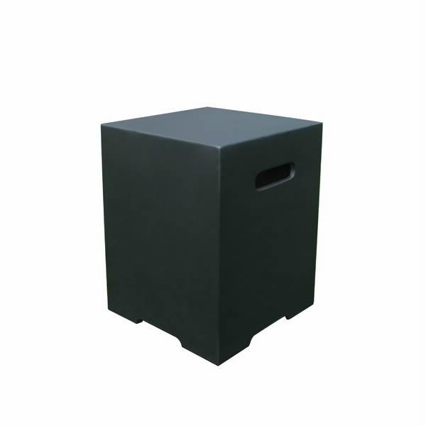 Gasfles cover betonlook vierkant zwart