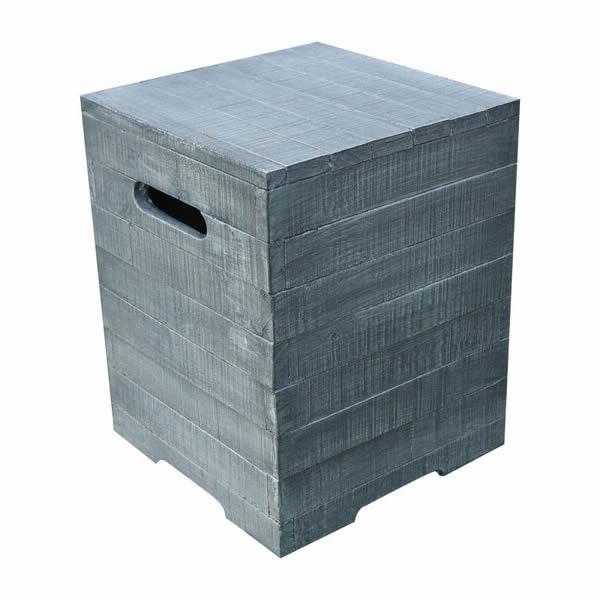Gasfles cover houtlook grijs