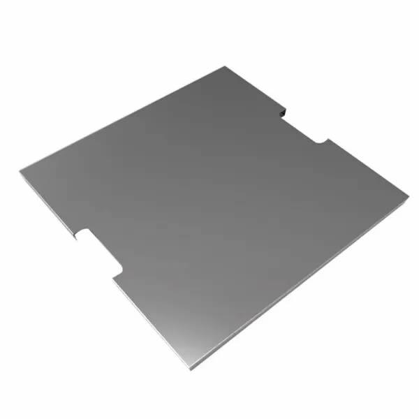 Vuurtafel Afdekplaat RVS vierkant (52,5 cm)