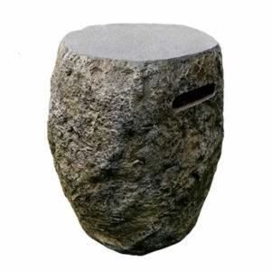 Gasfles cover basalt natuursteenlook