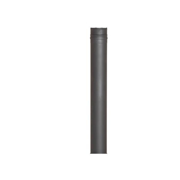 Tuinhaard Rookkanaal Decodesign 100cm RVS zwart